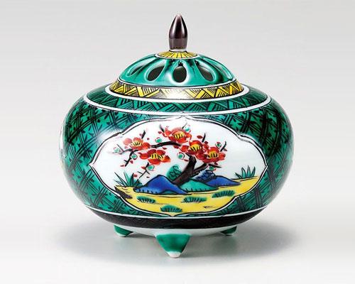 九谷焼 香炉 4号 松竹梅