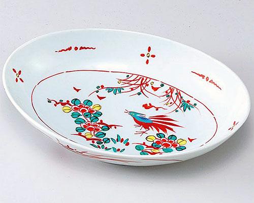 九谷焼 鉢 8号鉢 赤呉須