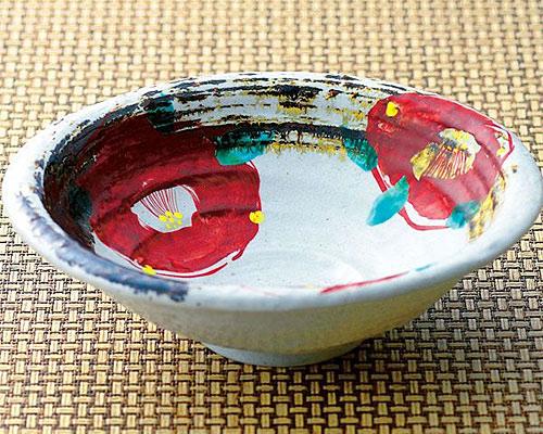 九谷焼 鉢 8.5号鉢 椿