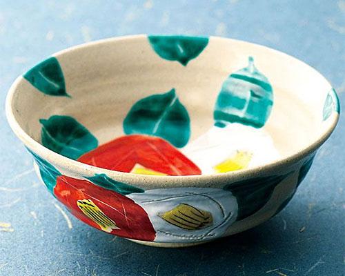 九谷焼 鉢 6号鉢 椿