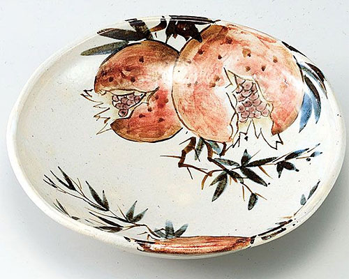 九谷焼 鉢 7.5号鉢 ザクロの図 佐藤剛