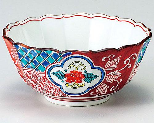 九谷焼 鉢 6号鉢 赤絵