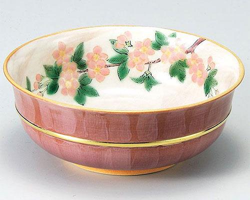 九谷焼 鉢 6号鉢 桜 青良窯
