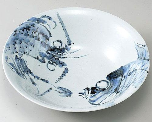 九谷焼 鉢 10号鉢 海老鯛 田中正人