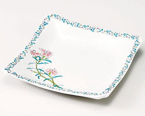九谷焼 皿 7号盛皿 なでしこ