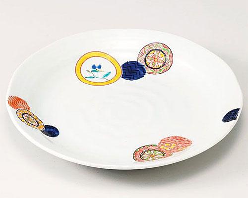 九谷焼 皿 9号盛皿 丸紋