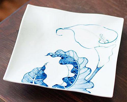 九谷焼 皿 7号盛皿 カラー