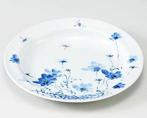 九谷焼 皿 8.5号盛皿 コスモス