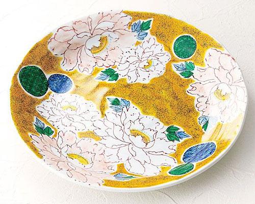 九谷焼 皿 9号盛皿 牡丹