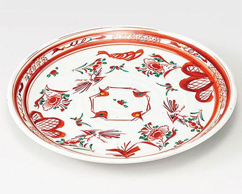 九谷焼 皿 10号盛皿 赤絵