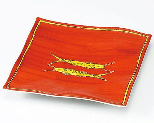 九谷焼 皿 7号盛皿 双魚紋