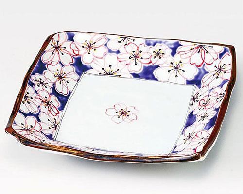九谷焼 皿 9.5号盛皿 花文