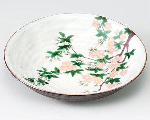 九谷焼 皿 10号盛皿 桜 青良窯