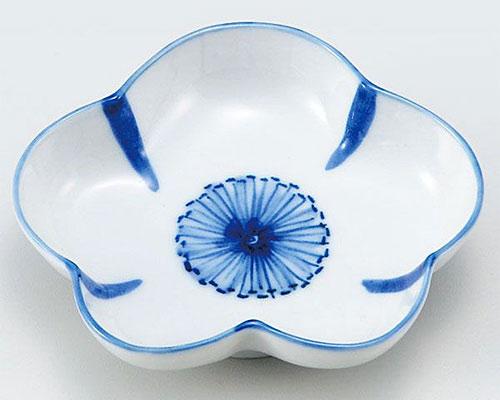九谷焼 皿 3.5号皿 染付花文