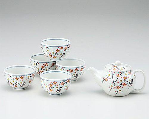 九谷焼 茶器揃 小梅