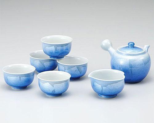九谷焼 茶器揃 銀彩