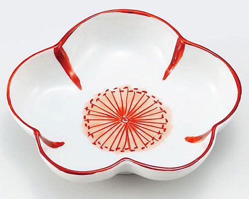 九谷焼 皿 3.5号皿 赤花文