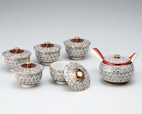 九谷焼 茶器揃 蓋付 梅詰