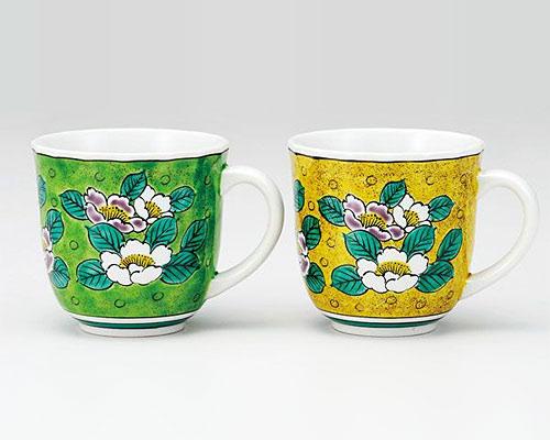 九谷焼 ペアマグカップ 吉田屋山茶花