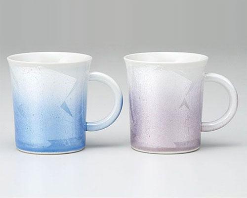 九谷焼 ペアマグカップ 銀彩
