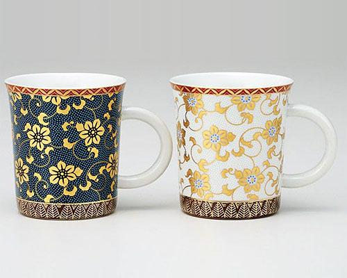 九谷焼 ペアマグカップ コンビ鉄仙