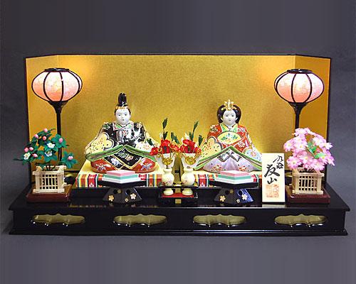 ひな人形 九谷焼 プラチナ・ライン 初節句お祝いセット