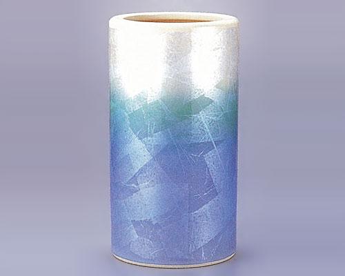 九谷焼 傘立 銀彩