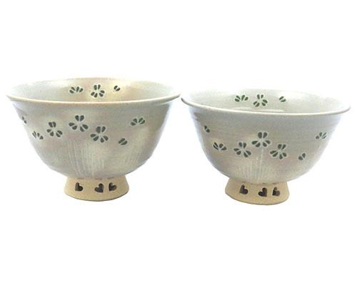 京焼・清水焼 関窯 茶漬 組茶漬 クローバー