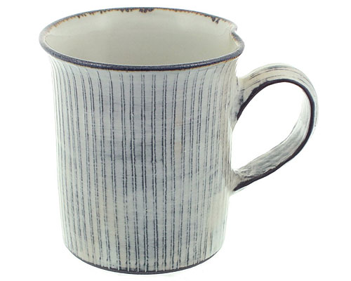 京焼・清水焼 関窯 マグカップ 白十草