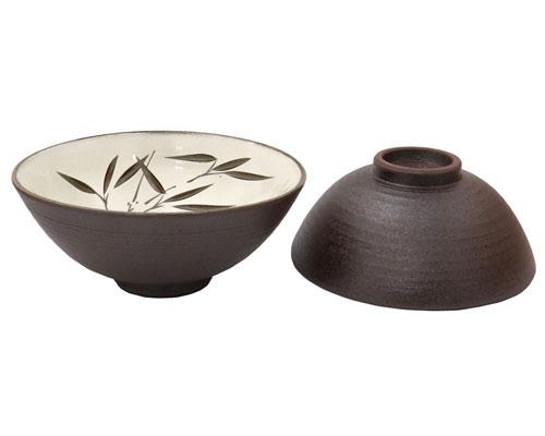 京焼・清水焼 正峰窯 組茶漬 南蛮彫笹