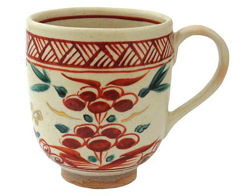 京焼・清水焼 巌窯 マグカップ 赤絵