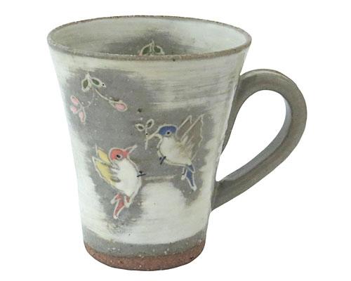 京焼・清水焼 関窯 マグカップ 羽ばたき