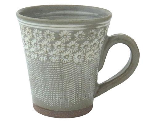 京焼・清水焼 関窯 マグカップ 三島とびかんな