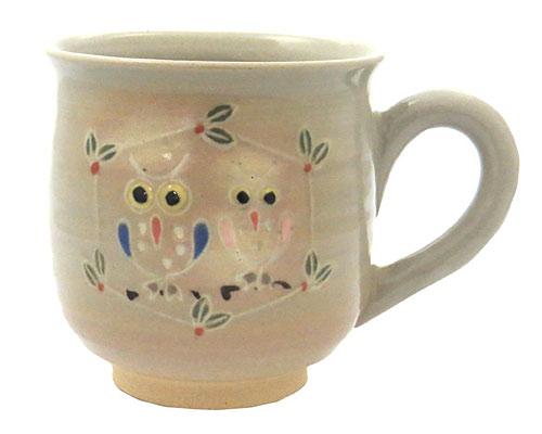 京焼・清水焼 関窯 マグカップ フクロウ