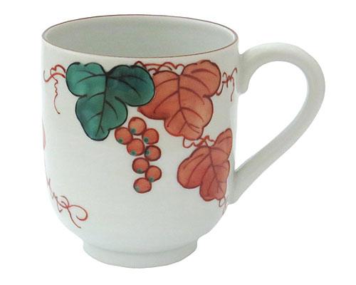 京焼・清水焼 紫峰窯 マグカップ 赤葡萄