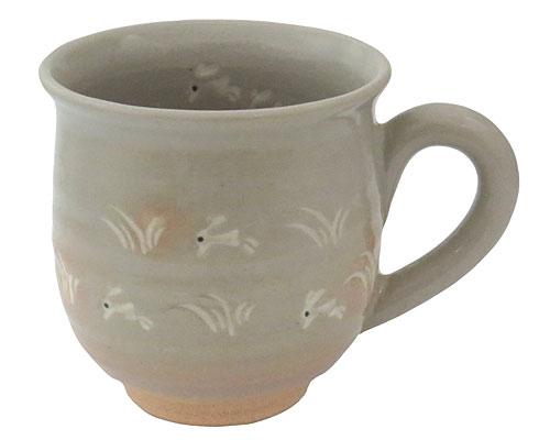 京焼・清水焼 関窯 マグカップ 兎