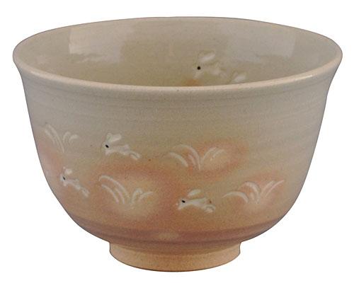 京焼・清水焼 関窯 抹茶碗 兎