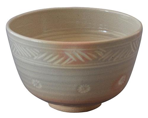 京焼・清水焼 関窯 抹茶碗 三島