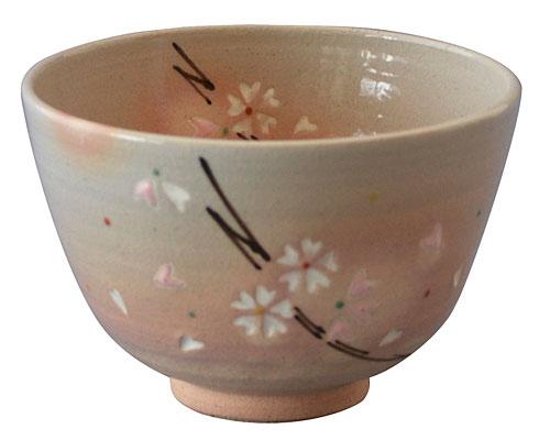 京焼・清水焼 関窯 抹茶碗 粉引桜
