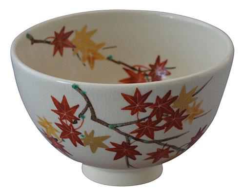 京焼・清水焼 尚峰 抹茶碗 紅葉