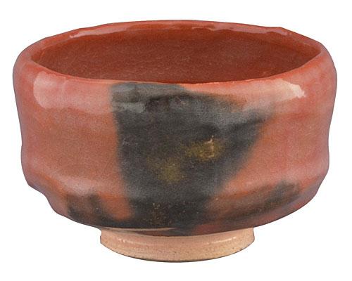京焼・清水焼 松楽窯 野点茶碗 赤楽