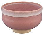 京焼・清水焼 林山窯 抹茶碗 ピンク流し