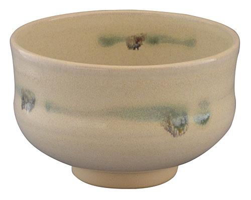 京焼・清水焼 林山窯 抹茶碗 黄地織部ちらし