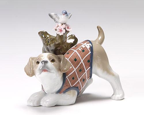 リヤドロ インテリア 桜の咲く頃 - 仔犬