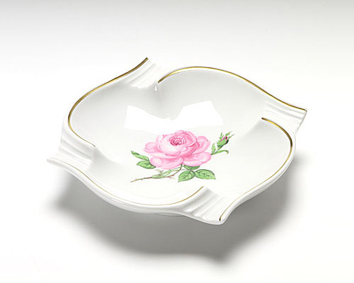 マイセン ピンクのバラ アッシュトレイ 13cm