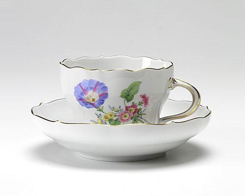 マイセン ベーシックフラワー(三つ花) コーヒーカップ&ソーサー 200cc ヒルガオ