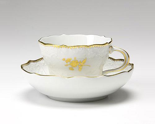 マイセン 金色の花 コーヒーカップ&ソーサー 200cc