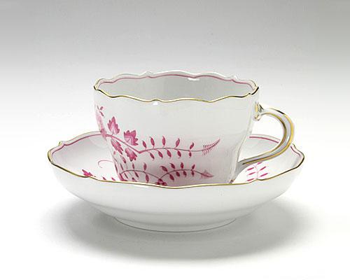 マイセン インドの鳥 ピンク コーヒーカップ&ソーサー 200cc