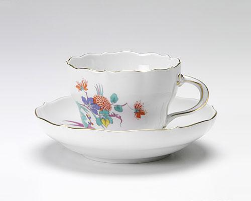 マイセン インドの花と蝶 コーヒーカップ&ソーサー 200cc