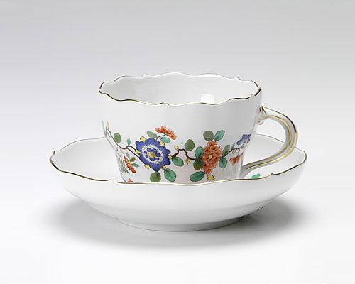 マイセン インドの花と鳥 コーヒーカップ&ソーサー 200cc